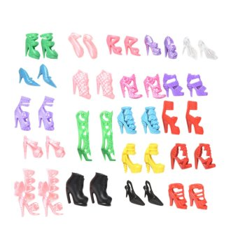 Harga Amango Slap-up Fashion High-Heeled Shoes For Barbie Dolls 20Pcs