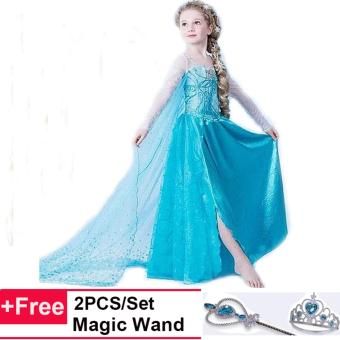 Girls Cosplay Costumes Princess Children Anna Elsa Drozen Dresses Price Philippines