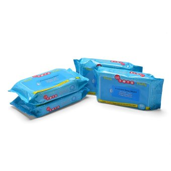 Harga Lil Tot's Baby Wipes 60's, Pack of 4 (Multicolor)