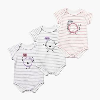 Harga Hush Hush Girls 3-piece Hungry Onesie Set (Multicolored)