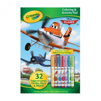 Harga CRAYOLA Coloring Activity Pad with Markers, Disney Planes