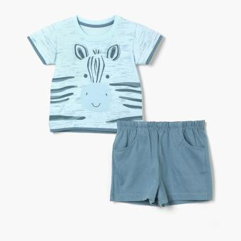 Harga Hush Hush Boys Zebra Tee and Shorts Set (Blue)