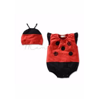 Infant Newborn Baby Girl Boy Cute Sleeveless Babysuit Jumpsuit Romper Bodysuit for Baby Costume for Baby with Hat Laby Bug (12M-3YR) Price Philippines