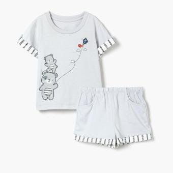 Harga Hush Hush Boys Bear Kite Tee and Shorts Set (Gray)