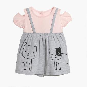 Harga Hush Hush Girls Cat Friends Dress (Gray)