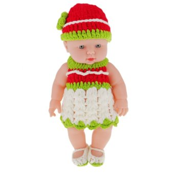 "BolehDeals 11"" Lifelike Baby Dolls Silicone Vinyl Soft Newborn Doll in Knit Suit Price Philippines"