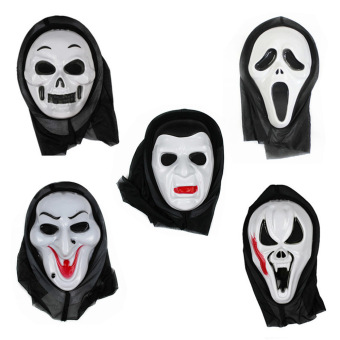 eMylo Pack of 5pcs Halloween Fancy Ball Party Dress Cosplay Horror Scream Ghost Skull Face Mask Price Philippines