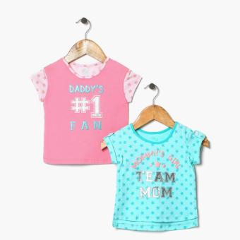 Harga jusTees Baby Girls Daddy's Number 1 Fan And Daddy's Girl Statement Tee Set (18M)