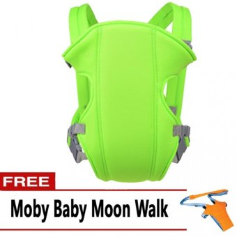 Harga Baby Carrier (Apple Green) with FREE Moby Baby Moon Walk
