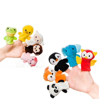 Andux 10pcs/set Creative Finger Toys Animal Finger Puppet SZWO-01 - intl Price Philippines