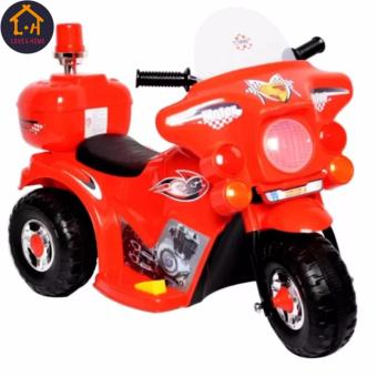 Harga LOVE&HOME Rechargeable Motor Bike Kids Ride-on Toys Police Motorcycle (Red)