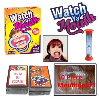 Harga PETREL 10Pcs Mouthgards Watch Ya' Mouth Hilarious Mouthguard Funny Family Party Game Christmas Speak Out Board Game Kit Set - intl