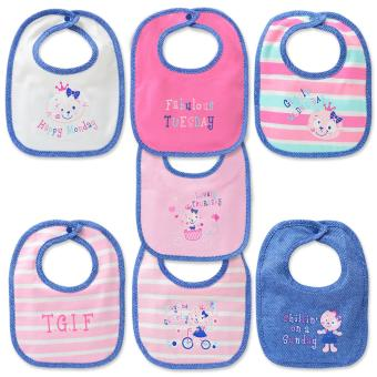Harga Cotton Stuff - 7-piece - Days of the Week - Snap-On Bib (Baby Doll)