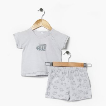 Harga Hush Hush Boys Vehicles Tee And Shorts Set (Gray)