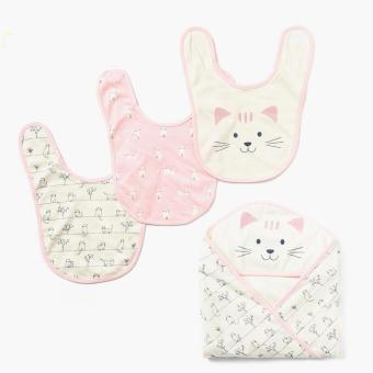 Harga Hush Hush Girls Kitty Bib And Blanket Set (Free Size)
