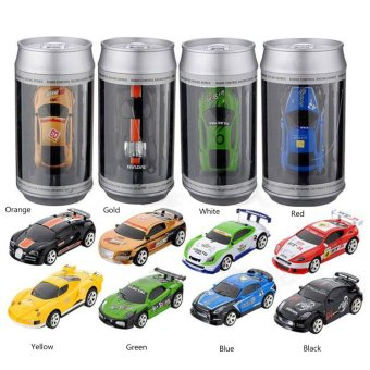Harga Coke Can Mini RC Car Radio Remote Control Micro Racing Car 4 Frequencies - intl