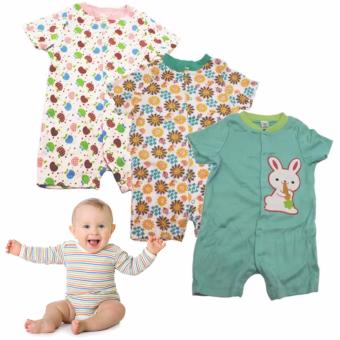 Tickle R7 Assorted Color/Design Babies 3 Pack Romper Price Philippines