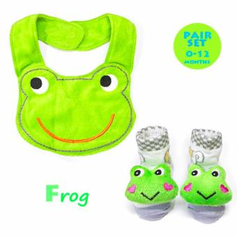 Harga Infant Bib & Bootie Socks Set- Frog