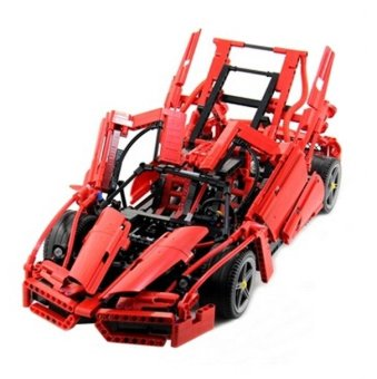 BELA 1359pcs Enzo 1:10 Model Racing Car Vehicle DIY 3D Construction Building Blocks Educational Toy Compatible for Legoe Technic Price Philippines