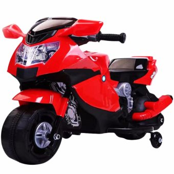 Harga Kids Rechargeable Electric Ride-On Motorcycle (Red)