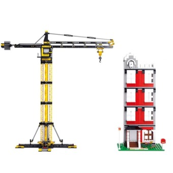 Harga Building block set Compatible With Lego engineering Tower cranes 1461 pcs 3D Construction Brick Educational Hobbies Toy for Kids