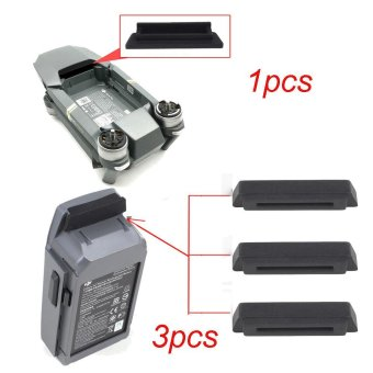 1PC For Frame 3PC For Battery Dustproof Plug Cover For DJI Mavic PRO Black - intl Price Philippines