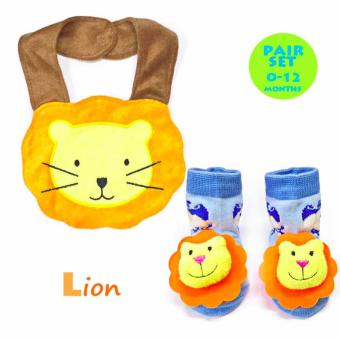 Harga Infant Bib & Bootie Socks Set- Lion