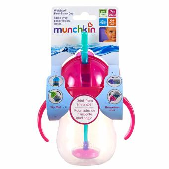 Harga Munchkin Weighted Flexi Straw cup (pink)