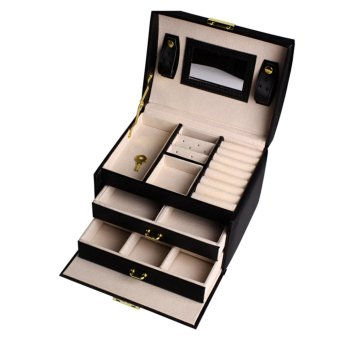 Andux Leather Jewelry Box Organizer PGSSH-01 Black - intl Price Philippines