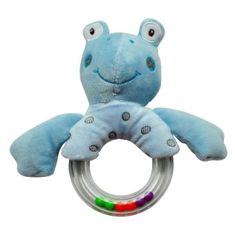 Harga Enfant Baby Soft Rattle Toy (Blue Frog)