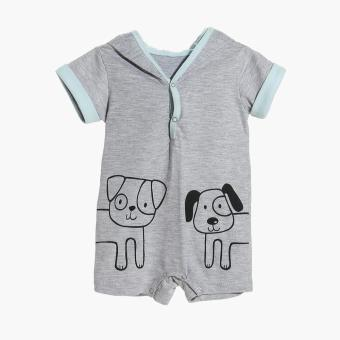 Harga Hush Hush Boys Cat and Dog Hooded Romper (Gray)