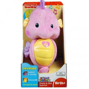 Harga Fisher-Price Brilliant Basics Soothe and Glow Seahorse (Pink)