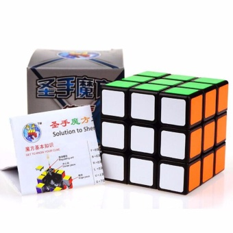 Harga 3x3 Magic Rubik Cube Professional Speed Puzzle Kid Intelligence Educational Toys( Black ) - intl