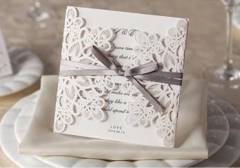 EOZY Wedding Party Invitation Card (White) - intl- Party Supplies