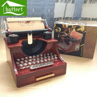 Retro plastic typewriter music box Good quality beautiful as gift for girl lady women boy and man - intl Price Philippines