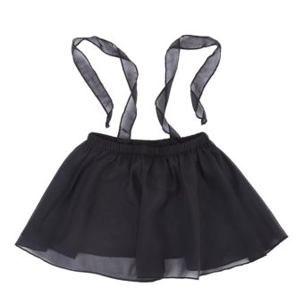 Harga Baby Girls Summer Gauze Suspender Dress Tops Clothes Sun-top (Black) - intl