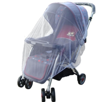 Harga New Infants Baby Stroller Pushchair Mosquito Insect Net Safe Mesh White Buggy Cover