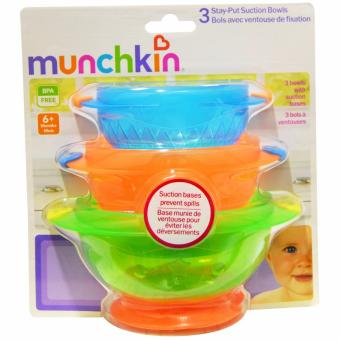 Harga Munchkin 3PK Stay Put Suction Bowl (Multicolor)