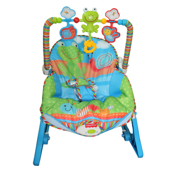 Harga Fisher-Price Toddler Rocker Frog and Snail (Blue)