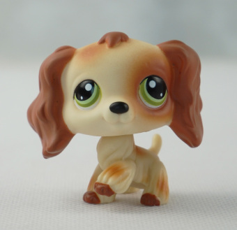 Harga Littlest Pet Shop LPS Brwon Tan Cocker Spaniels Dog Girl toys Green Eyes - Intl