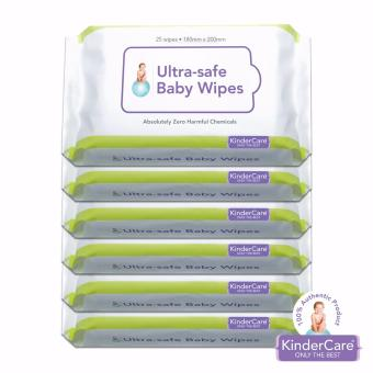 KINDERCARE Ultra Safe Baby Wet Wipes 25's Set of 6 Price Philippines