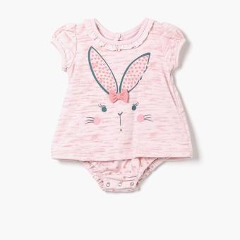 Harga Hush Hush Girls Bunny Faux-dress Onesie (Pink)
