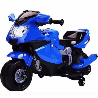 Harga Kids Rechargeable Electric Ride-On Motorcycle (Blue)