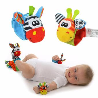 Harga PAlight 1 Pair Of Infant Baby Foot Socks Rattles Foot Finders Toys