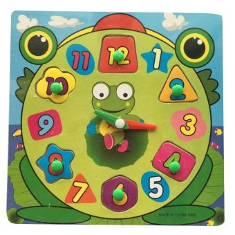 Harga Frog Wooden Clock Toy