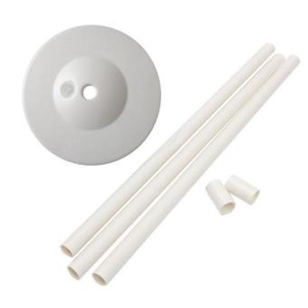 BolehDeals 1 Set Upright Balloon Base Plastic Balloon Column Base Party Supplies White - intl- Party Supplies