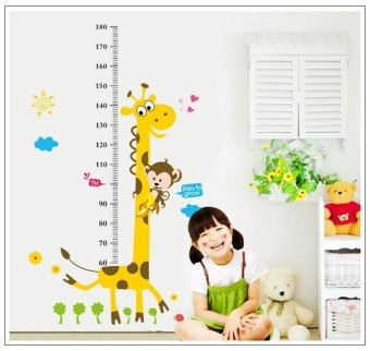 Harga Kids Growth Chart Height Measure Wall Sticker For DIY Kid's Room Children Kids Baby Home Room School Nursery Decoration - Girafe - intl