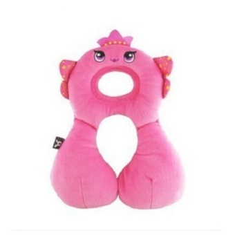 Cartoon Angel Design Kids Car Seat Cushion Baby Travel Neck Pillow 1-4 years Pink Price Philippines