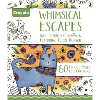 Harga CRAYOLA Whimsical Escapes Coloring Book