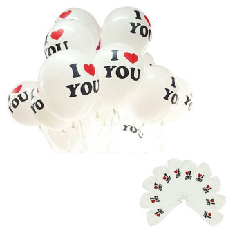 4ever 100pcs I LOVE YOU Latex Balloon Birthday Wedding Party Decor - Intl- Party Supplies